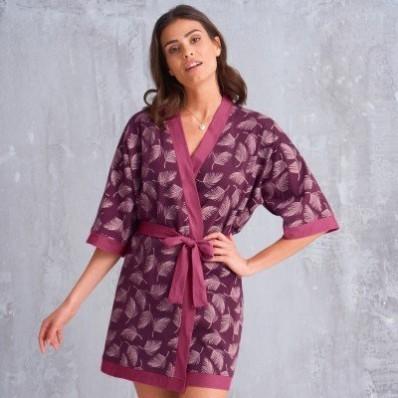 Kimono župan se 3/4 rukávy a potiskem