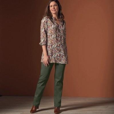 Rovné kalhoty pro ploché bříško