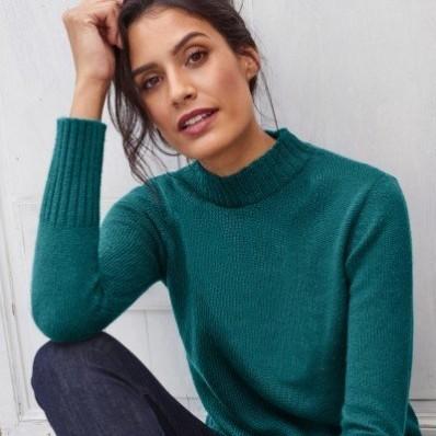 Žebrovaný pulovr se stojáčkem