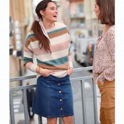 Džínová sukně s knoflíky