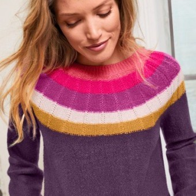 Žakárový pulovr mohérový na dotek
