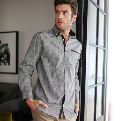 Košile s dvojitým límečkem a dlouhými rukávy