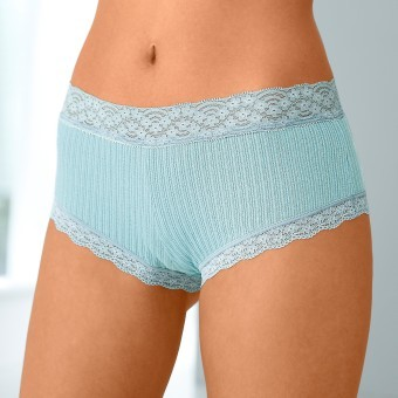 Kalhotky shorty z bavlny a krajky, sada 3 ks