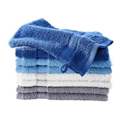 Žínky, modrá/šedá, zn. Colombine,sada 8 ks