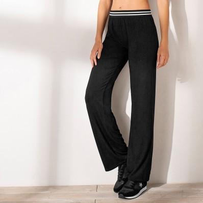 Rovné kalhoty s pružným pasem