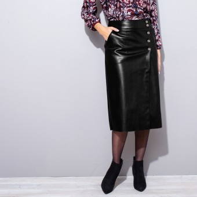 Pouzdrová koženková sukně