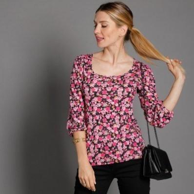 Tričko s potlačou a dlhými rukávmi