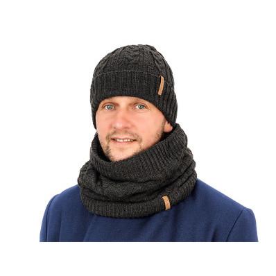Zestaw męski - szalik i czapka