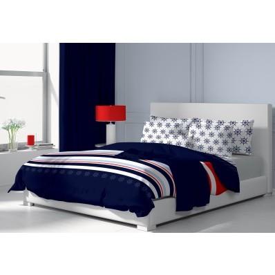 Asternut de pat din bumbac Navy