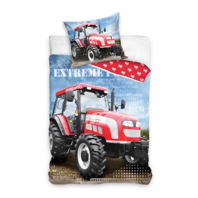 Bawełniane poszewki z motywem traktora