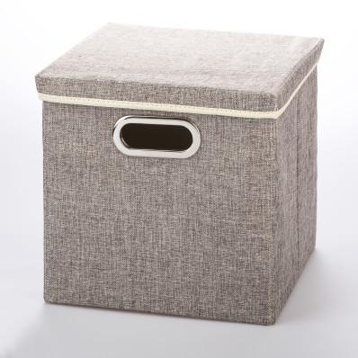 Solidne tekstylne pudełko z pokrywka