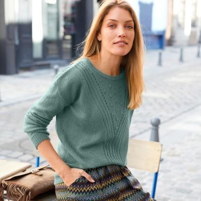 Ažurový pulovr