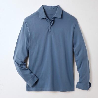 Polo tričko s dlouhými rukávy, certifikát Öko-Tex