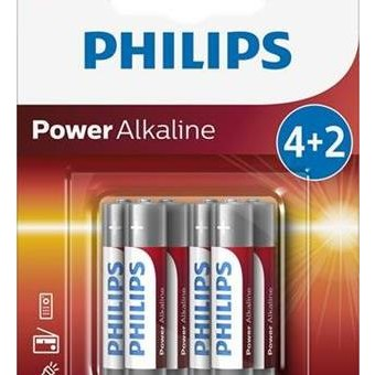 Baterie Philips 4+2 AAA (1,5V)