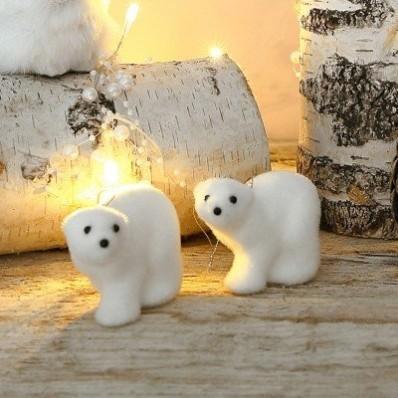 Biele medvede, súprava 2 alebo 4 ks