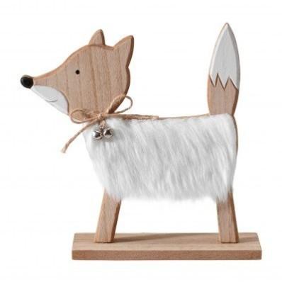 Dekorace liška s aspektem kožešiny