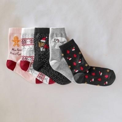 Ponožky s vánočními motivy, 5 párů