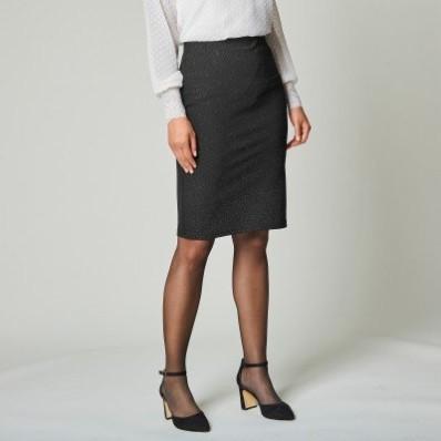 Rovná trblietavá sukňa