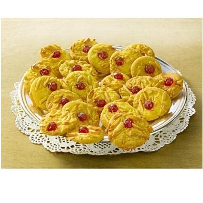 Mandľové koláčiky s čerešňovým želé