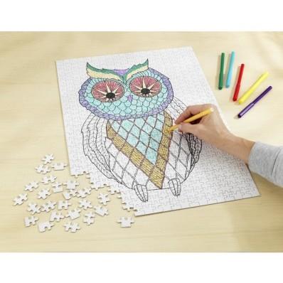 Puzzle - Malovaná sova