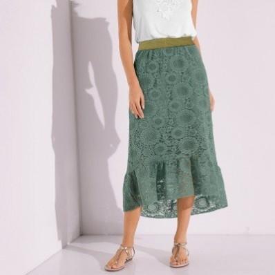 Dlhá sukňa s čipkou