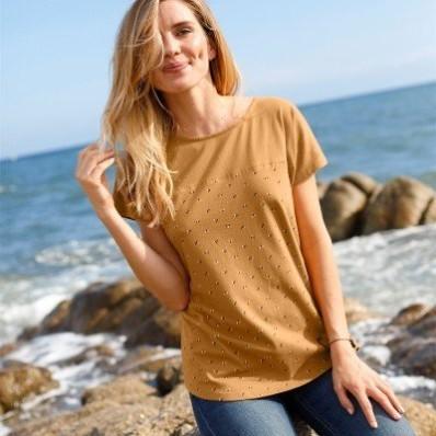 Tričko s potiskem a krátkými rukávy, ekologicky vyrobené