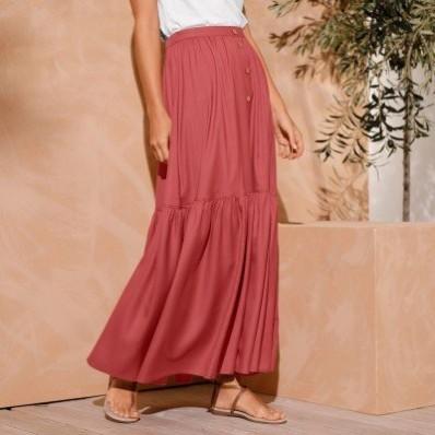 Dlouhá jednobarevná sukně
