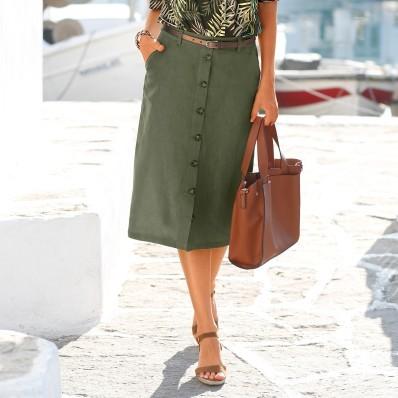 Rovná sukně na knoflíky
