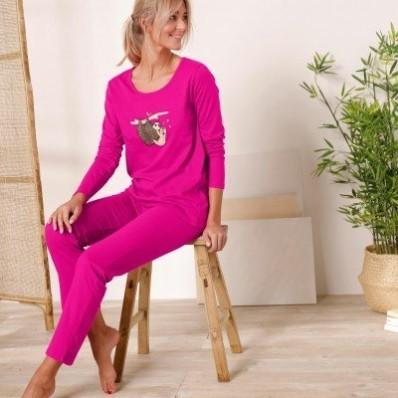 Pyžamo s dlouhými rukávy a kalhotami, motiv lenochodů