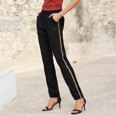 Vzdušné kalhoty s lampasy
