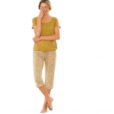 Pyžamo s potiskem, korzárské kalhoty