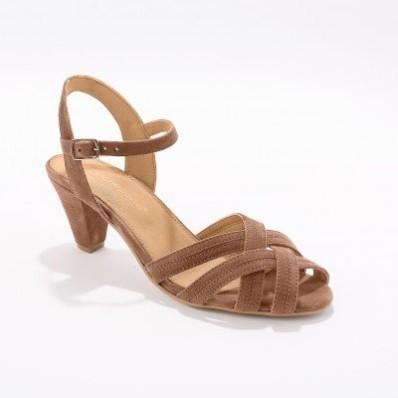 Kožené páskové sandály