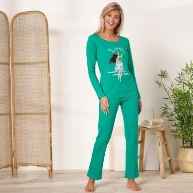Pyžamo s dlouhými rukávy a kalhotami, motiv Tahiti Aloha