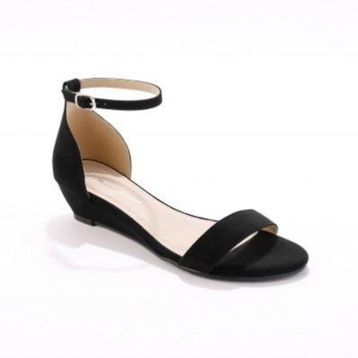 Sandály na klínku, černé