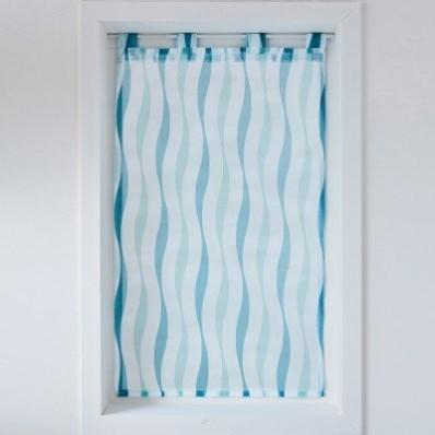 Vitrážová záclona s motivem vlnek