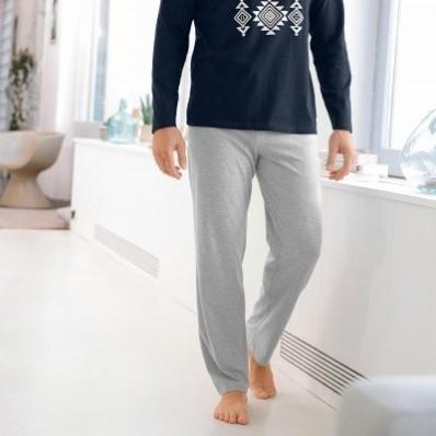 Pyžamové nohavice, sivý melír