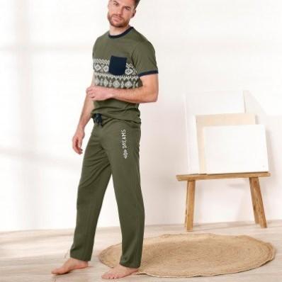 Pyžamové nohavice, khaki