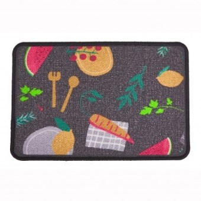 Kuchynský koberec s potlačou zeleniny
