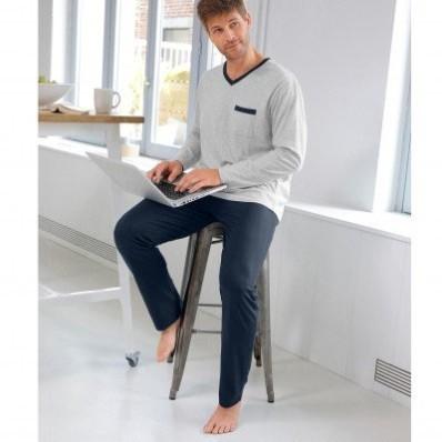 Dvojfarebné pyžamo s nohavicami, 2 ks