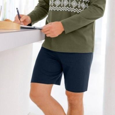 Pyžamové šortky, šedý melír