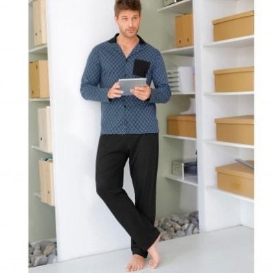 Pyžamo s košilí s dlouhými rukávy a kalhotami