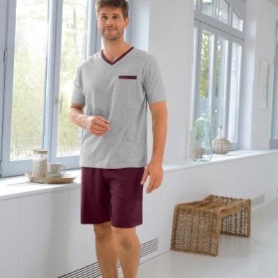 Dvojfarebné pyžamo so šortkami, 2 ks