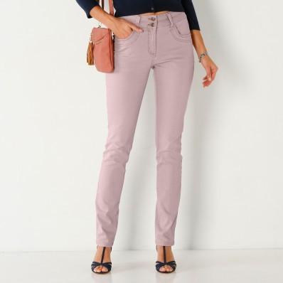 Rovné farebné džínsy