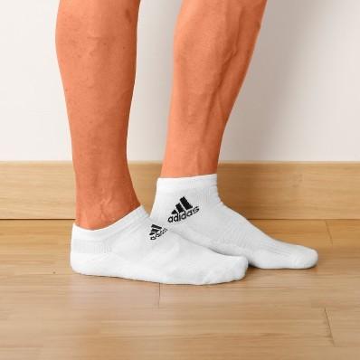 Biele členkové ponožky, súprava 3 páry