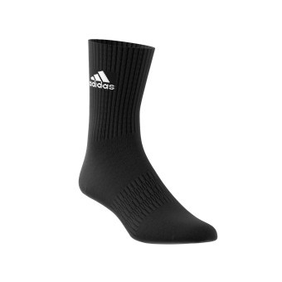 "Černé ponožky ""crew"", sada 3 párů"