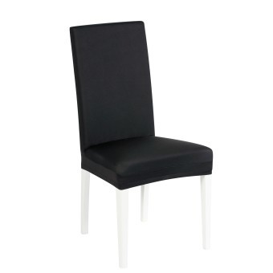 Jednobarevný bi-pružný potah na židli, sada 2 ks