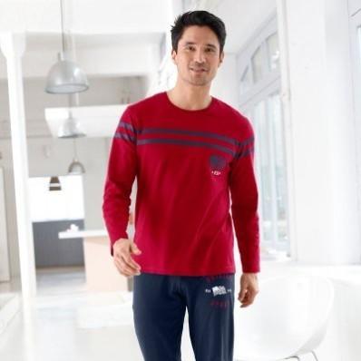 Pyžamové tričko s krátkymi rukávmi, bavlna