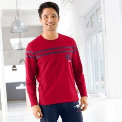 Pyžamové tričko s dlhými rukávmi, bavlna