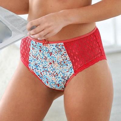 Nohavičky maxi s čipkou a potlačou Coria, súprava 2 ks