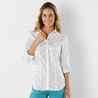 Košeľa s potlačou bodiek